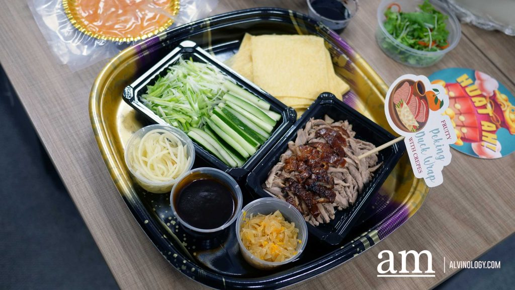 Fruity Peking Duck Wraps with Crepes - S$36.80, serves approximately 10 pax