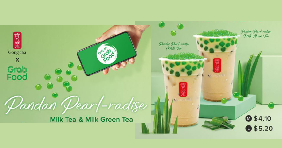 Gong Cha introduces new Pandan-flavoured pearl topping to top your favourite milk tea - exclusively available via GrabFood - Alvinology