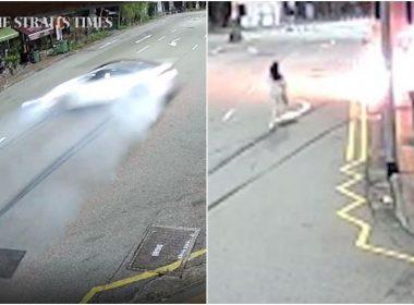 Video of BMW Tanjong Pagar crash victim Raybe Oh Siew Huey running to save Jonathan Long revealed - Alvinology