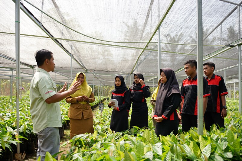 The goal of the trainings is to help farmers find ways to professionalise their small business and improve their livelihoods