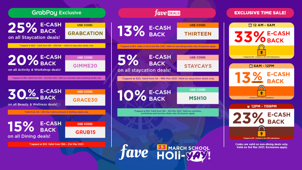 [PROMO CODES INSIDE] Fave reveals 1-for-1 deals, cashback redemptions, vouchers, and promo codes you can grab this March! - Alvinology