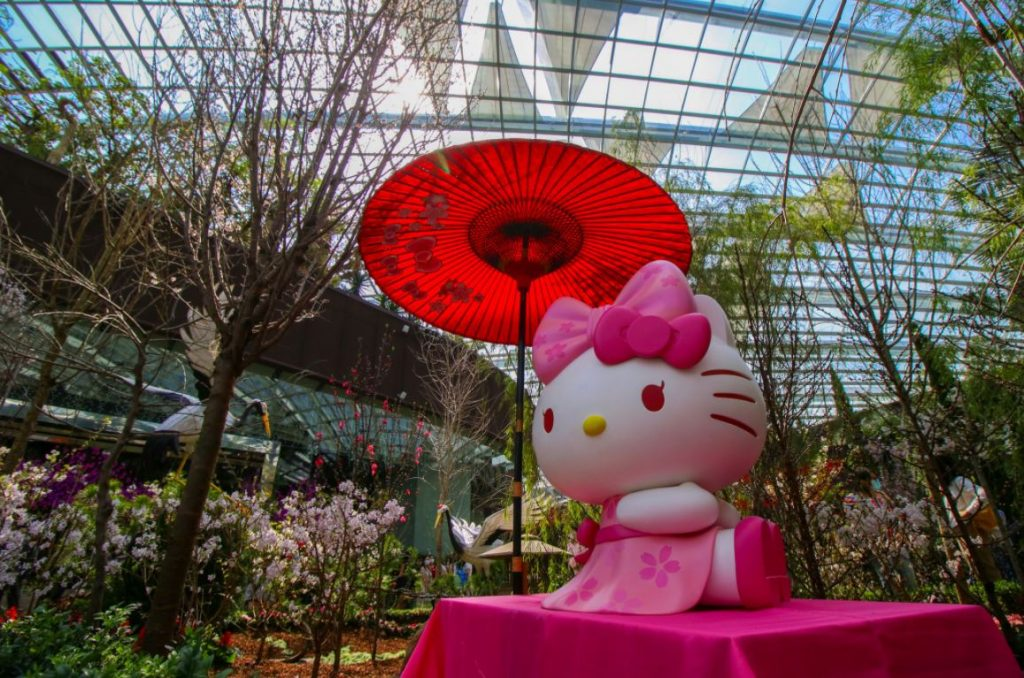 Hello Kitty helps Gardens by the Bay welcome spring with lots of Japanese-themed display and programmes - Alvinology