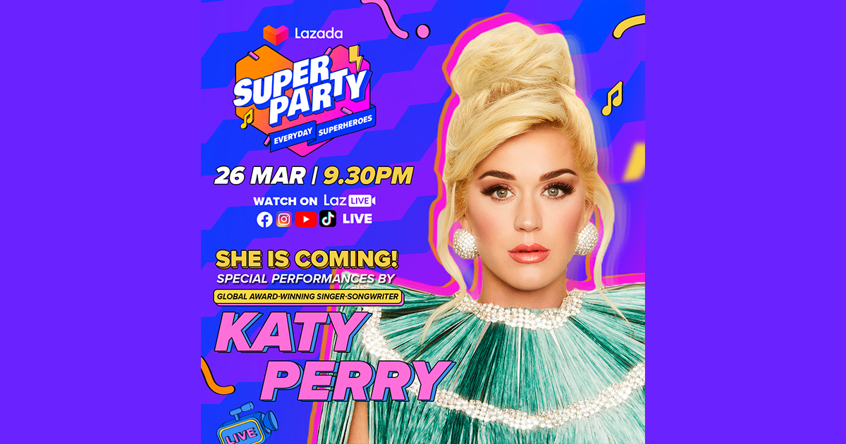 Catch Katy Perry, NCT Dream, and rain of FREE VOUCHERS at the Lazada Super Party concert as the e-commerce platform celebrates its 9th Birthday! - Alvinology