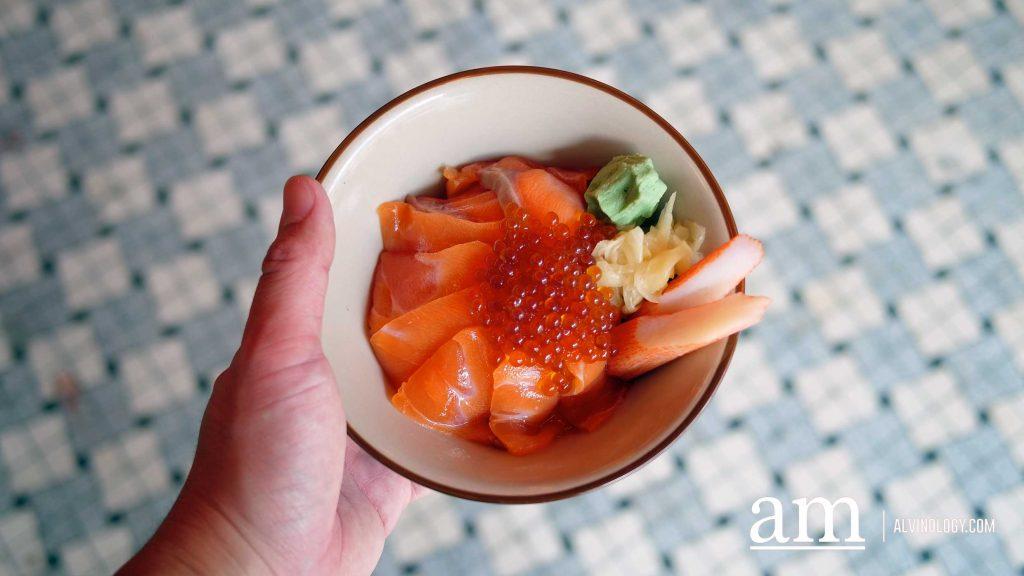 Salmon Ikura Don lunch set ($18.80)