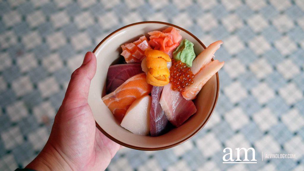 Chirashi Sashimi Don lunch set ($28.80)