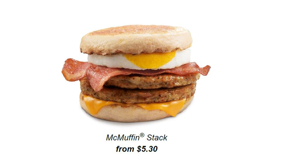 McDonald's McMuffin Stack returns and you can get it at 1-for-1 promo via My McDonald's App this 29 – 31 March! - Alvinology