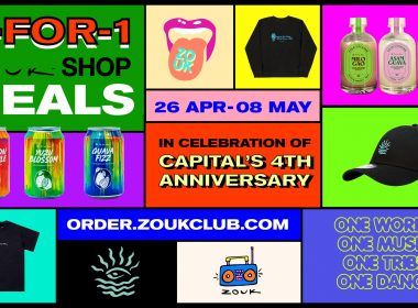[1-FOR-1 DEAL] Zouk celebrates Capital's 4th anniversary with awesome deals, new original merchandise, and more! - Alvinology