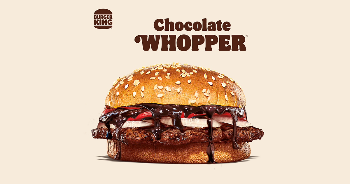 [PROMO] The only real treat you can get this April Fools' is Burger King's new Chocolate WHOPPER! Learn how to get a free Mashed Up Fries here - Alvinology