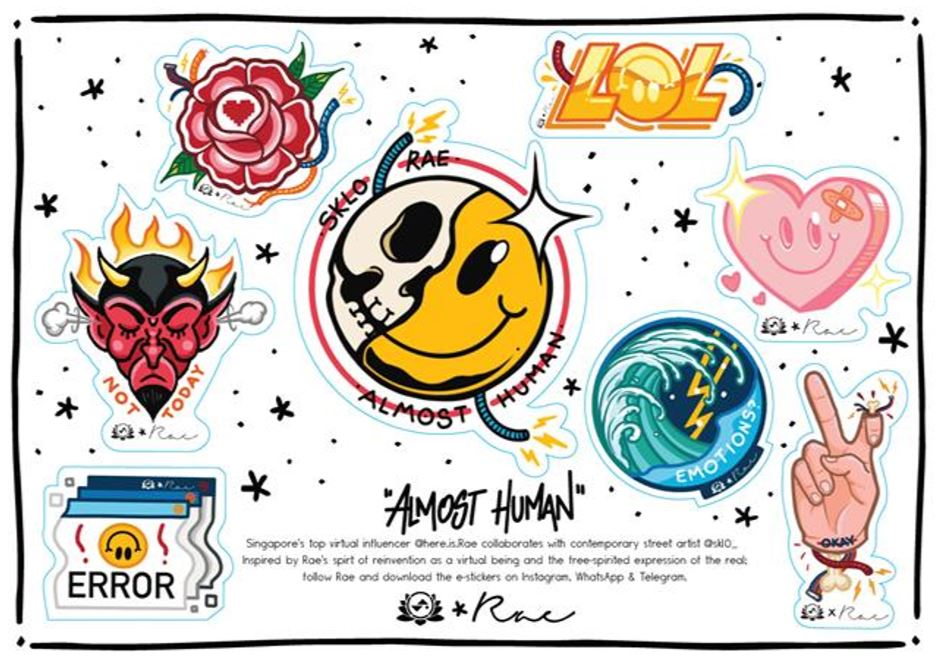 """[GIVEAWAY] Sam Lo and Rae present limited-edition """"Almost Human"""" e-sticker designs; Join this giveaway get an exclusive one-of-a-kind skate deck! - Alvinology"""