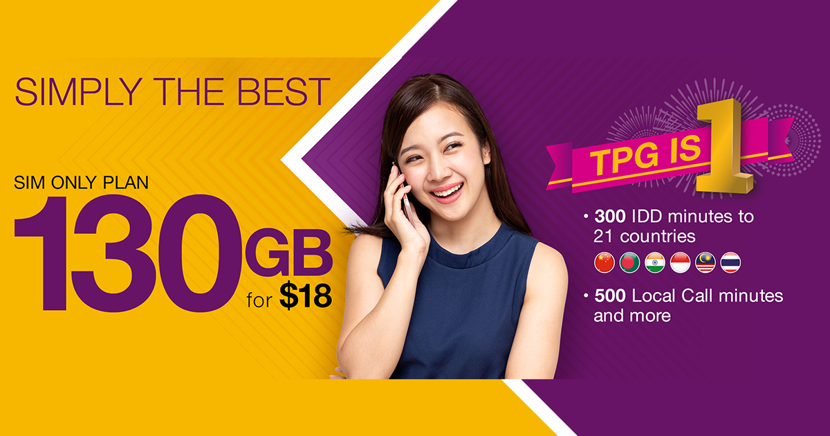 [PROMO] TPG turns One offering 100GB for $10 and 130GB for $18 SIM-only plans for a limited time only! - Alvinology