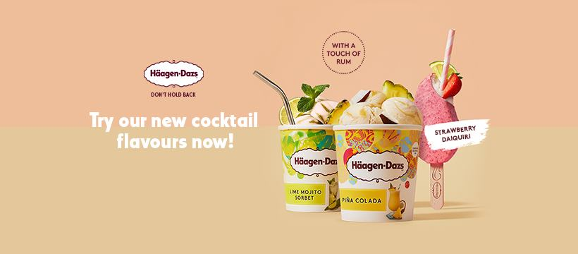 Lime Mojito Sorbet, Piña Colada, Strawberry Daiquiri: Häagen-Dazs introduces limited-edition collection of cocktail-inspired flavours - Alvinology