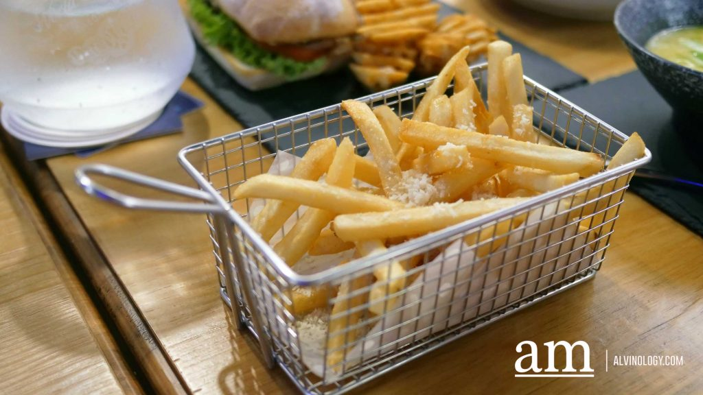 Kingsman Fries - Parmesan Cheese, Straight Cut Fries (S$11.90 with truffle oil, S$10.90 without)