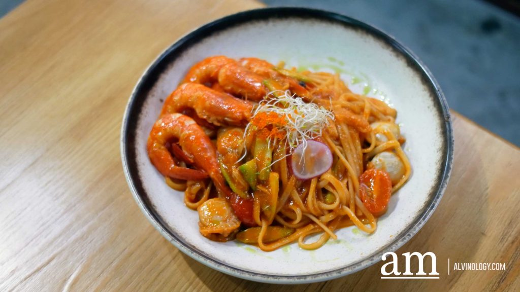 Seafood Pasta with Chili Crab Sauce