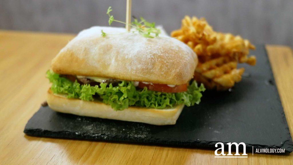 Wagyu Steak Sandwich - Ciabatta Bread, Wagyu Beef Slice, Pickled Cucumber, Cheddar (S$17.90)