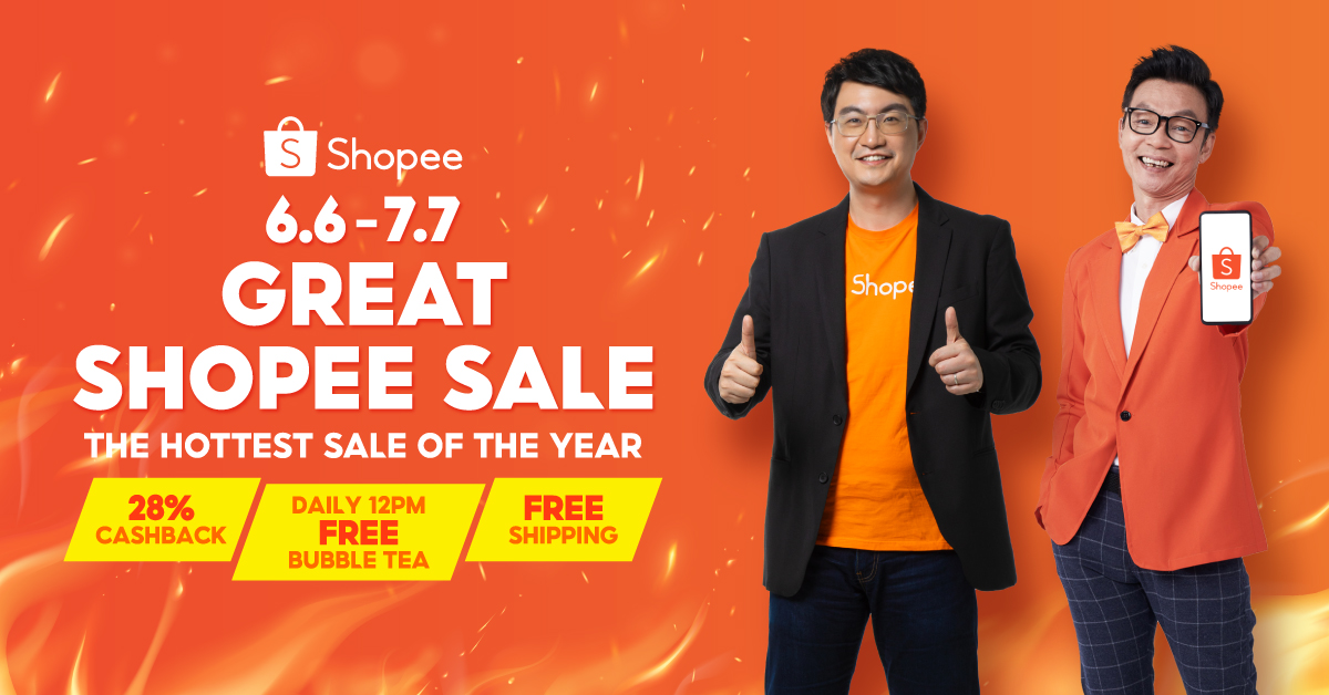 Mark Lee is the new Shopee Brand Ambassador to herald in the 6.6 - 7.7 Great Shopee Sale - 28% Cashback, Daily Free Bubble Tea, and Free Shipping! - Alvinology