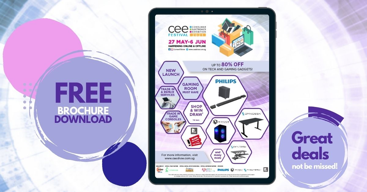[SHOP+WIN] CEE Festival 2021 – shop and win the hottest electronics, gaming peripherals, and more worth over $15,000 starting 27 May! - Alvinology