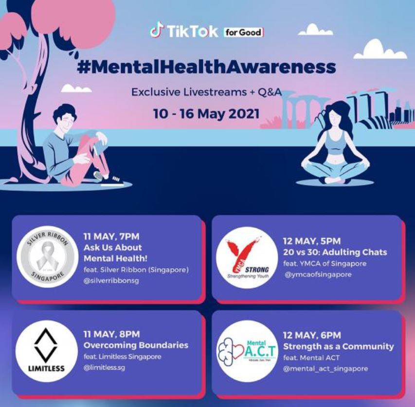 Youth for Good – Tiktok seeks to empower youths to raise awareness on mental and cyber wellness this Mental Health Awareness Week - Alvinology