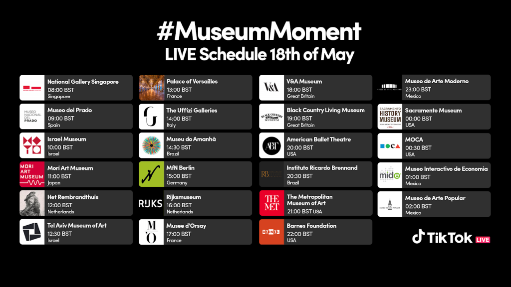 TikTok livestreams the longest museum marathon starting with the National Gallery Singapore in celebration of International Museum Day - Alvinology