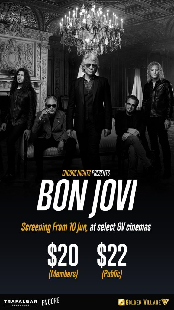 Bon Jovi Encore Nights at Golden Village - Rocking Cinemas This Father's Day Weekend - Alvinology