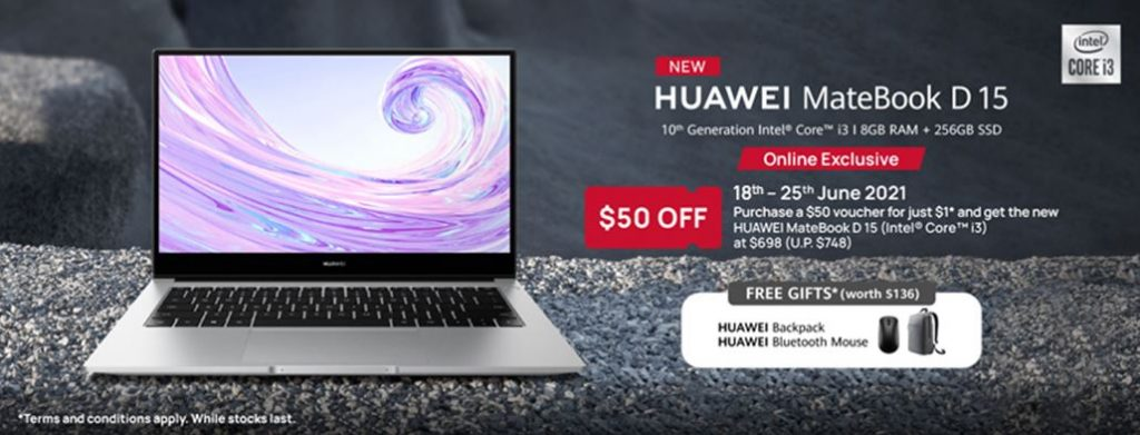[PROMO] HUAWEI MateBook D 15 – budget-friendly laptop for everyday use, enjoy a launch offer from Shopee with the purchase of a $50 voucher at just $1! - Alvinology