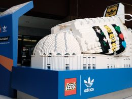 LEGO builds a giant LEGO adidas Original Superstar showcasing at Bugis+, Vivocity, and Suntec City - Alvinology