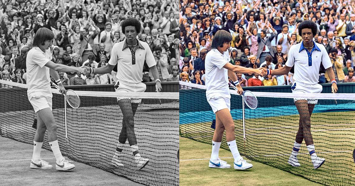OPPO recolourises these iconic black and white tennis images to celebrate the return of Wimbledon – see them here! - Alvinology