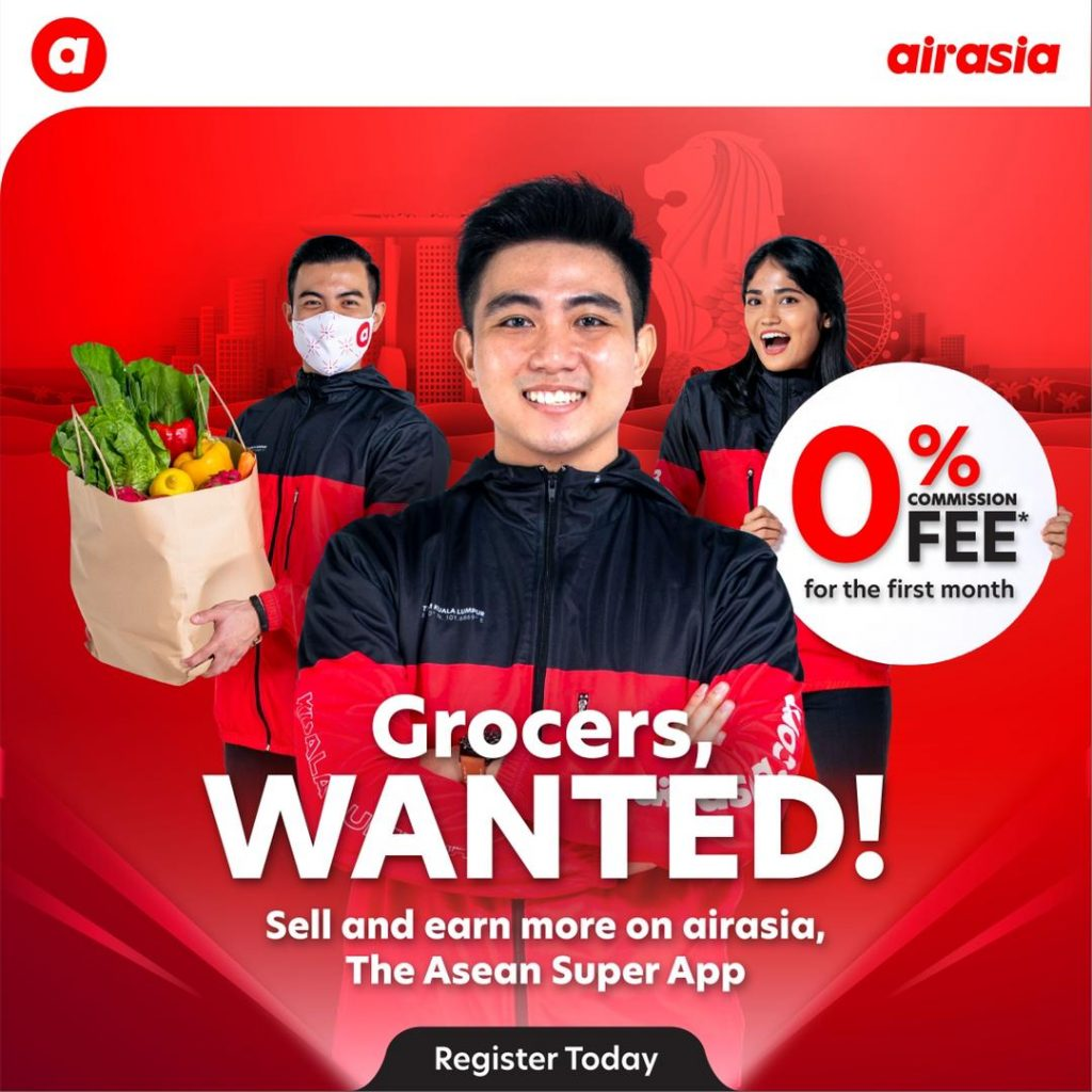 Airasia super app Singapore now offers 0% first-month commission rate for new merchants - Alvinology
