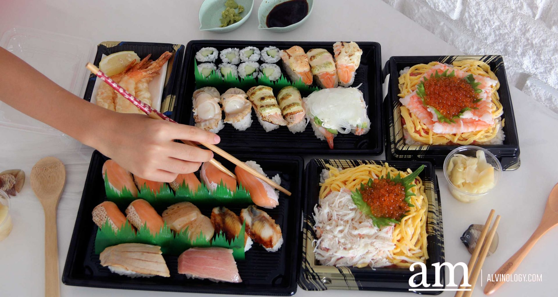 [Review] Build-Your-own Takeaway Sushi Platter from Sushiro Singapore - Alvinology