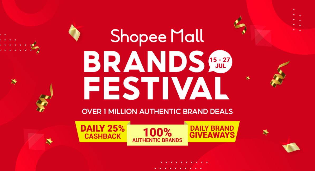 [PROMO] The Shopee Mall Brands Festival is back – a 13-day bonanza featuring 25% Cashback and Brand Giveaways! Here's everything you need to know - - Alvinology