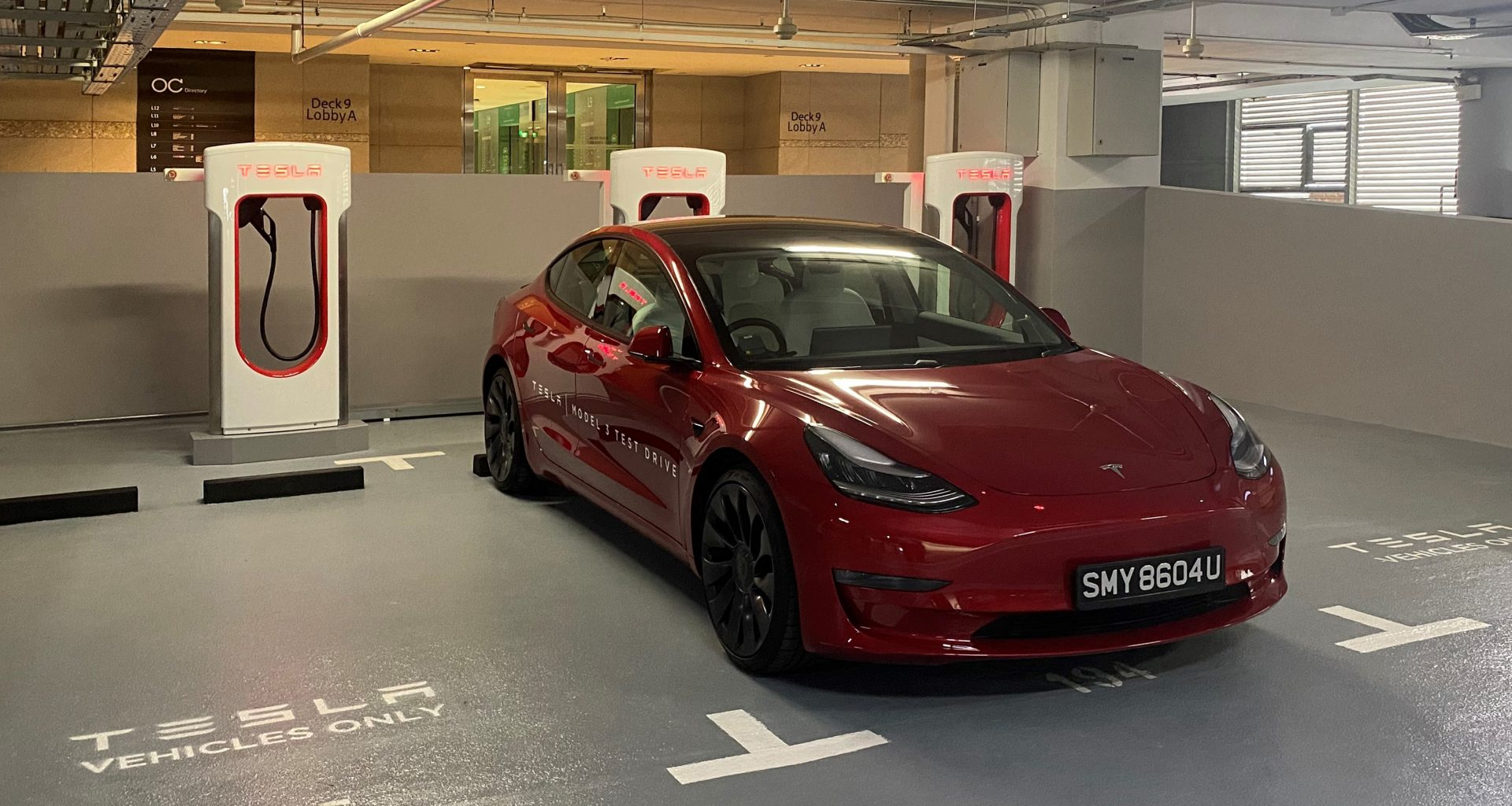 New Tesla V3 Superchargers charging station is now open to public at Orchard Central and available 24/7 - Alvinology