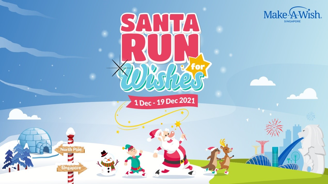 Make-A-Wish Singapore brings the second virtual Santa Run for Wishes 2021; check out Santa's little activities – - Alvinology