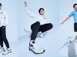 Park Seo Jun is Skechers new Regional Brand Ambassador displaying his athletic form in a pair of Skechers Global Jogger sneaker - Alvinology